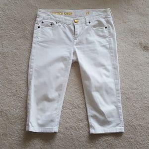 JCrew white denim capri jeans